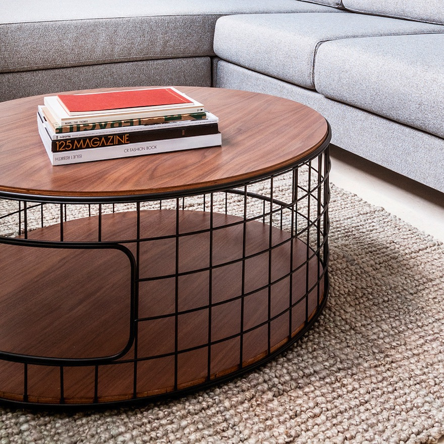 Designing for small spaces coffee tables with storage for Wire coffee table