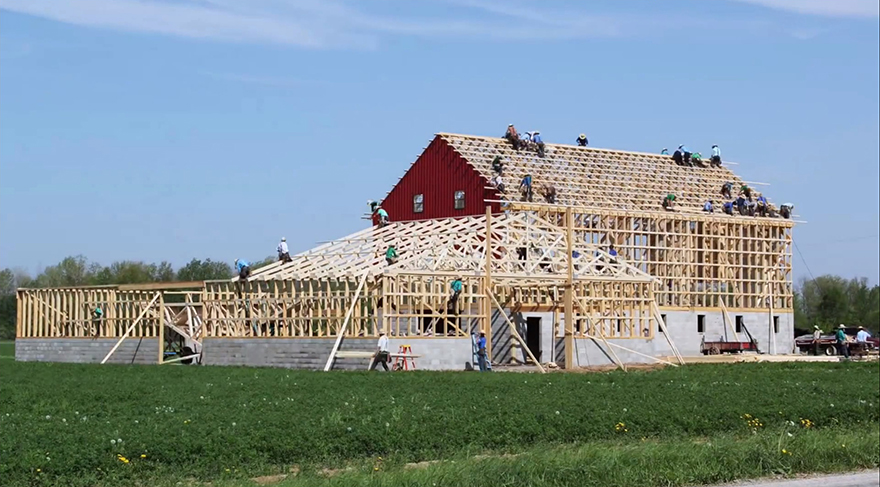 Amish barn raisings are awesome especially for what you for Amish home construction