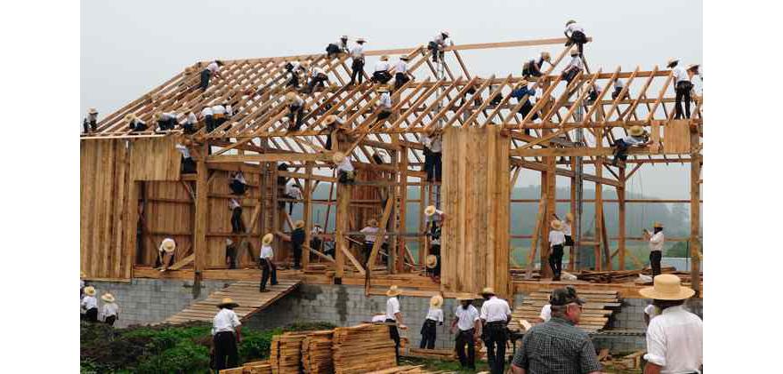 Barn Building Team Amish