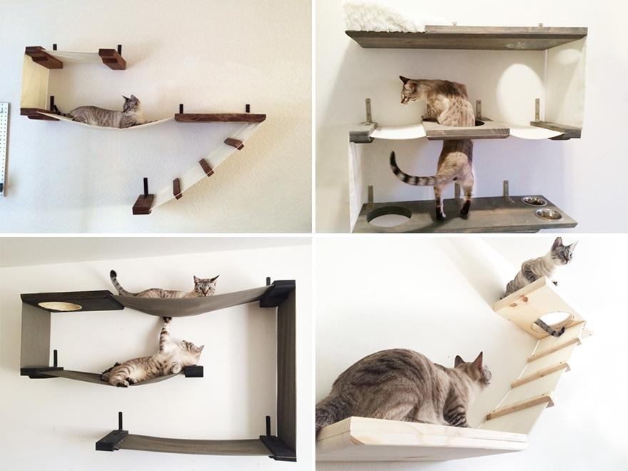 Полочки для кошек своими руками 50
