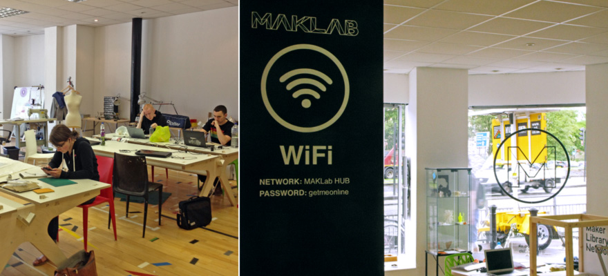 Designers In Action At MakLab The Premiere Maker Hub Of Glasgow Scottish Humor Even Pervades Wifi Passwords