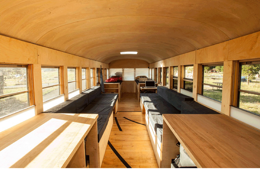 school bus tiny house. Working With Your Hands, Full-Scale: Hank Butitta\u0027s Bus-to-Tiny-House Conversion - Core77 School Bus Tiny House