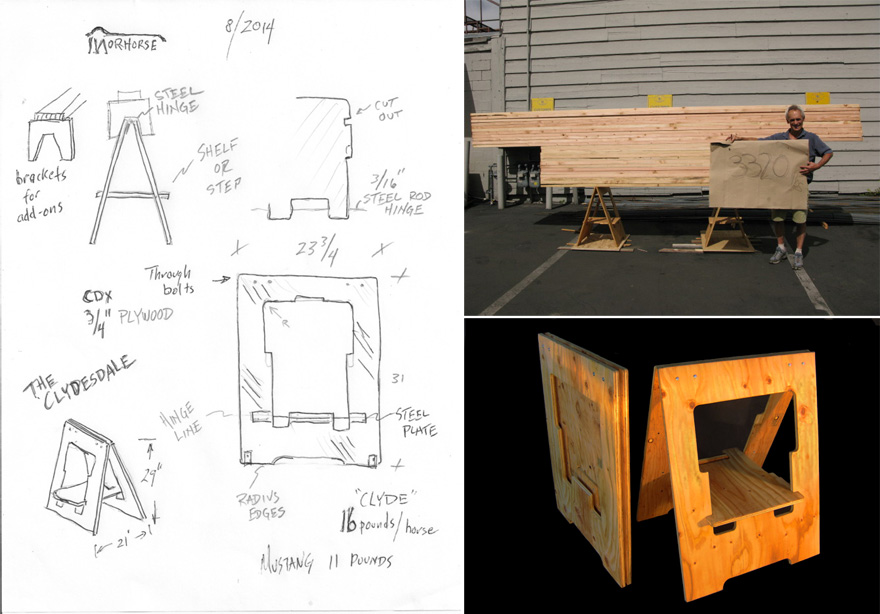 In The Details Making A Folding Sawhorse On Steroids