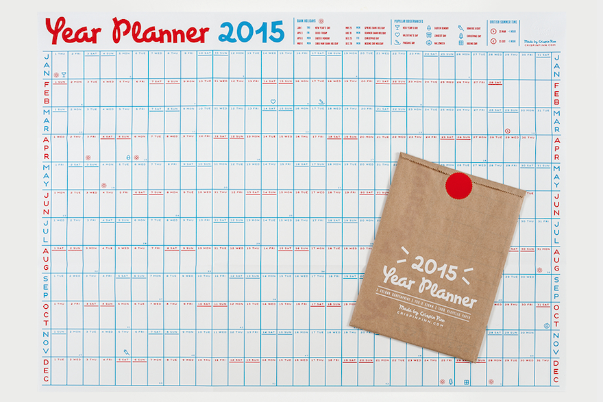 Three Year Calendar Planner : Organizing the year designing calendars and planners core