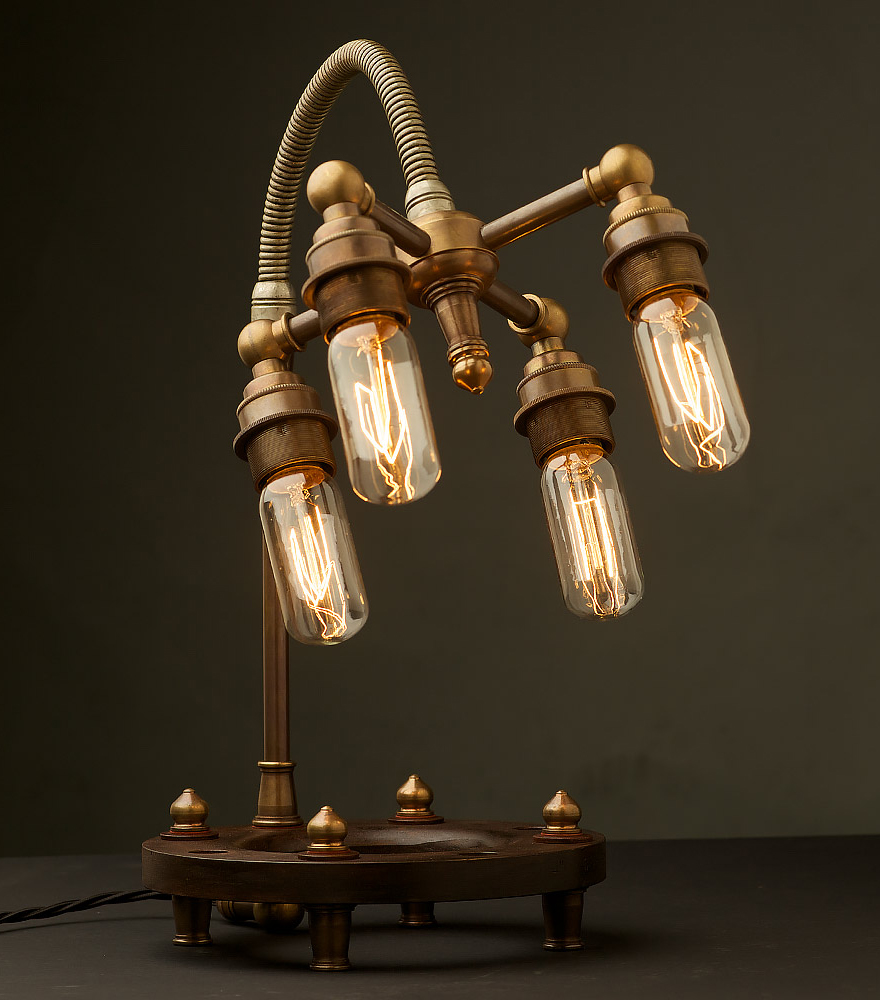 edison light globes part 2 brassy classy steampunk style lamp. Black Bedroom Furniture Sets. Home Design Ideas
