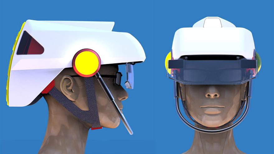 Un casque de vélo intelligent, à défaut d'être beau SmartHat-2x