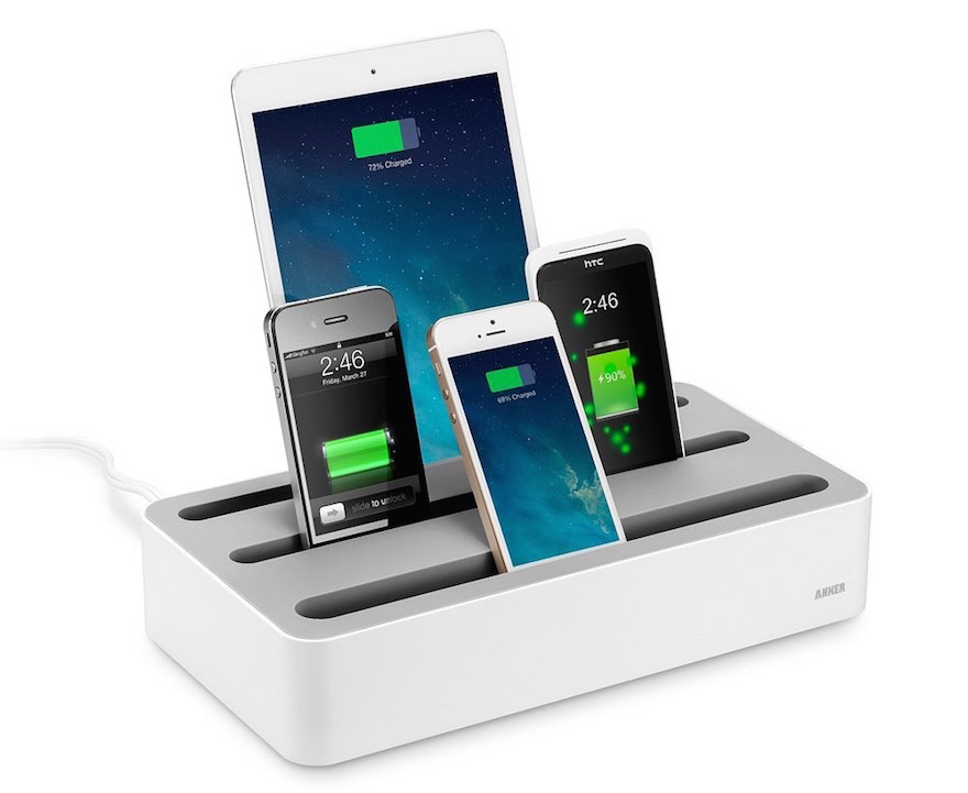Organized charging for mobile devices core77 Cell phone charging station