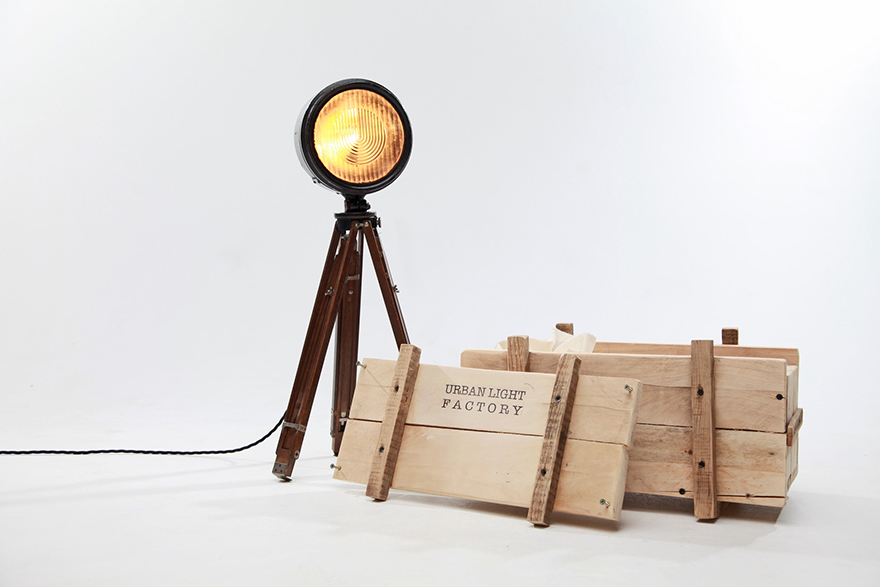 repurposing old headlights into lamps core77. Black Bedroom Furniture Sets. Home Design Ideas