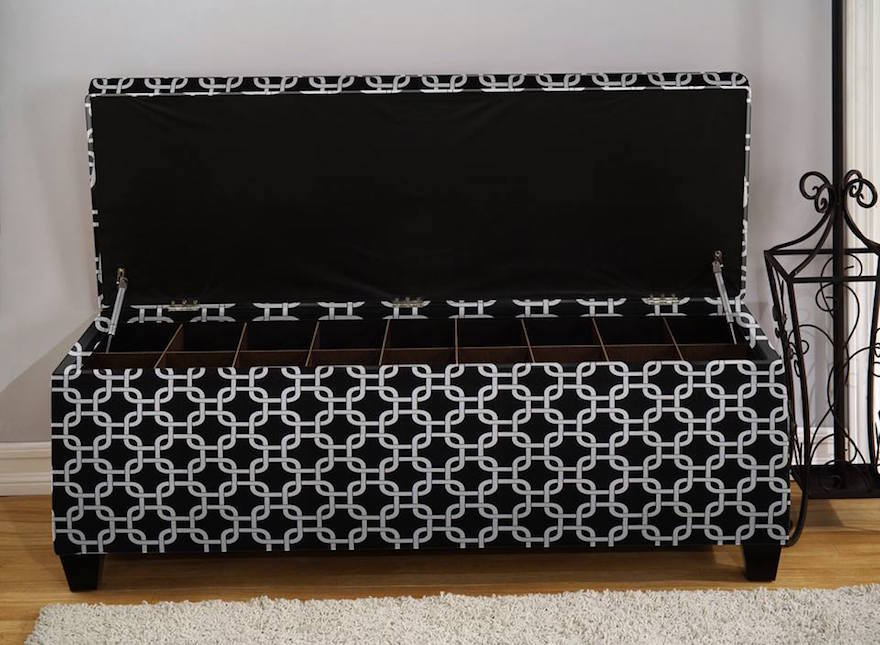 iu0027ve seen photos of numerous shoe ottomans and shoe storage benches and the ones from the sole secret impress me the most the rectangular shape makes