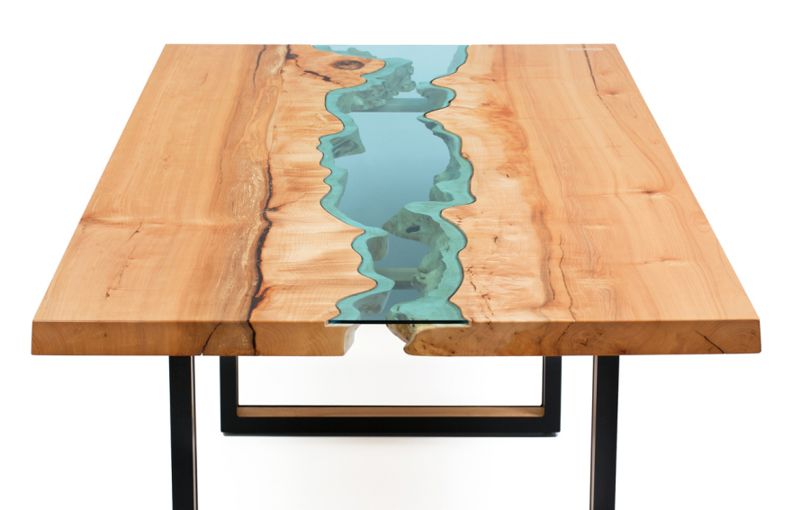 another table design inspired by natural bodies of water core77. Black Bedroom Furniture Sets. Home Design Ideas