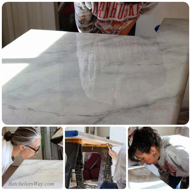 High Level Diy Finishing Skills Faux Marble Countertops