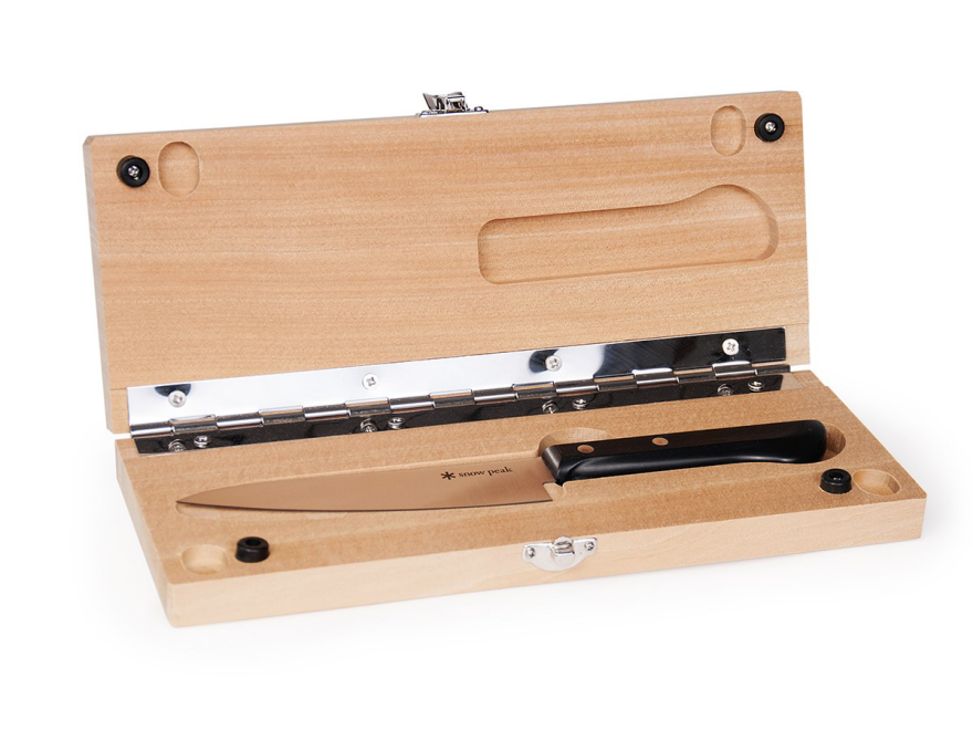 Wooden carrying case and cutting board for knife