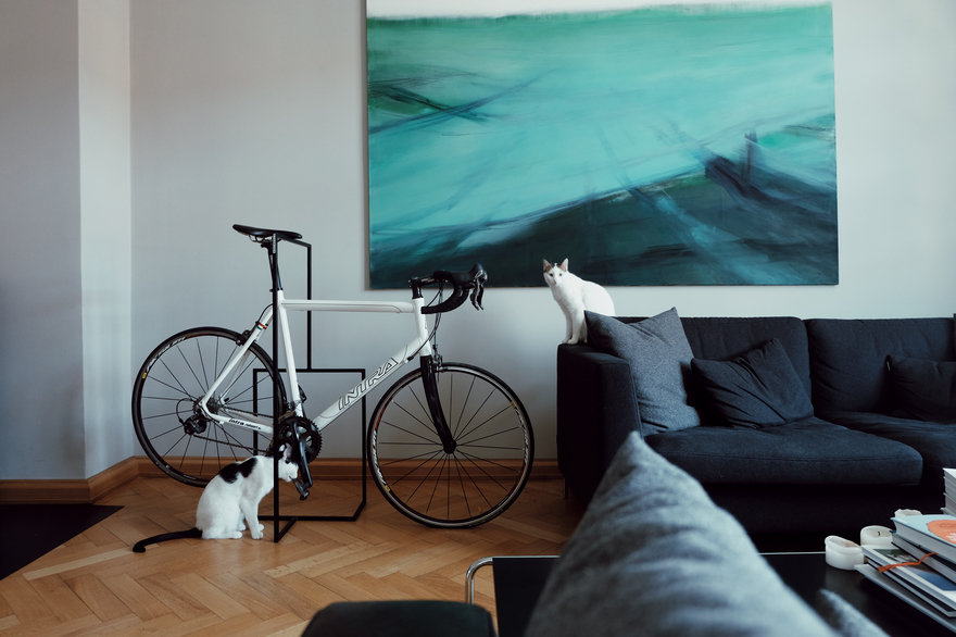 Reader Submitted: This Minimal Bike Stand Lets You Store Your Bike Indoors or Outdoors in Style