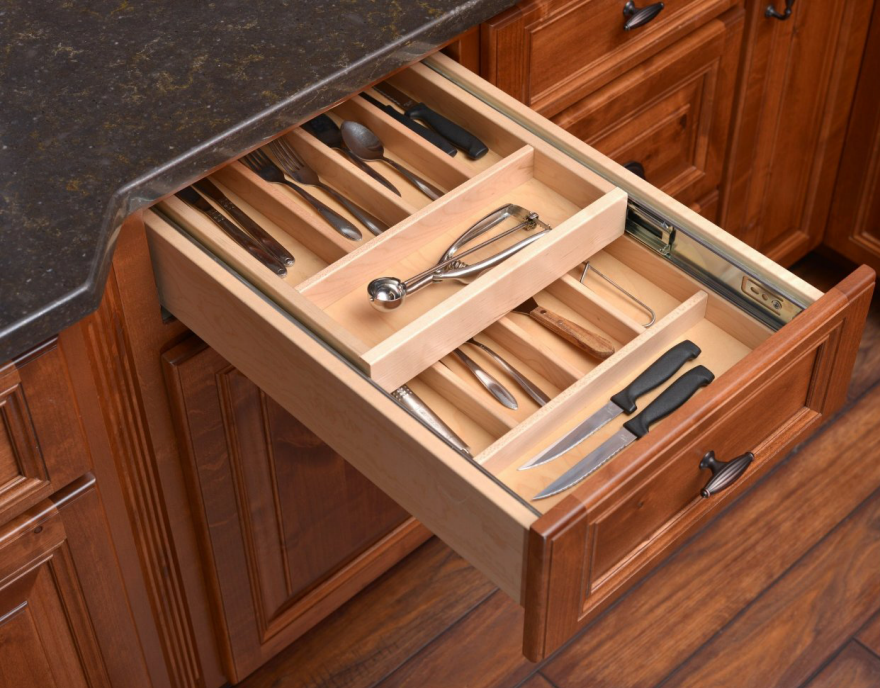 14 ways to organize the kitchen silverware drawer core77 for Silverware storage no drawers