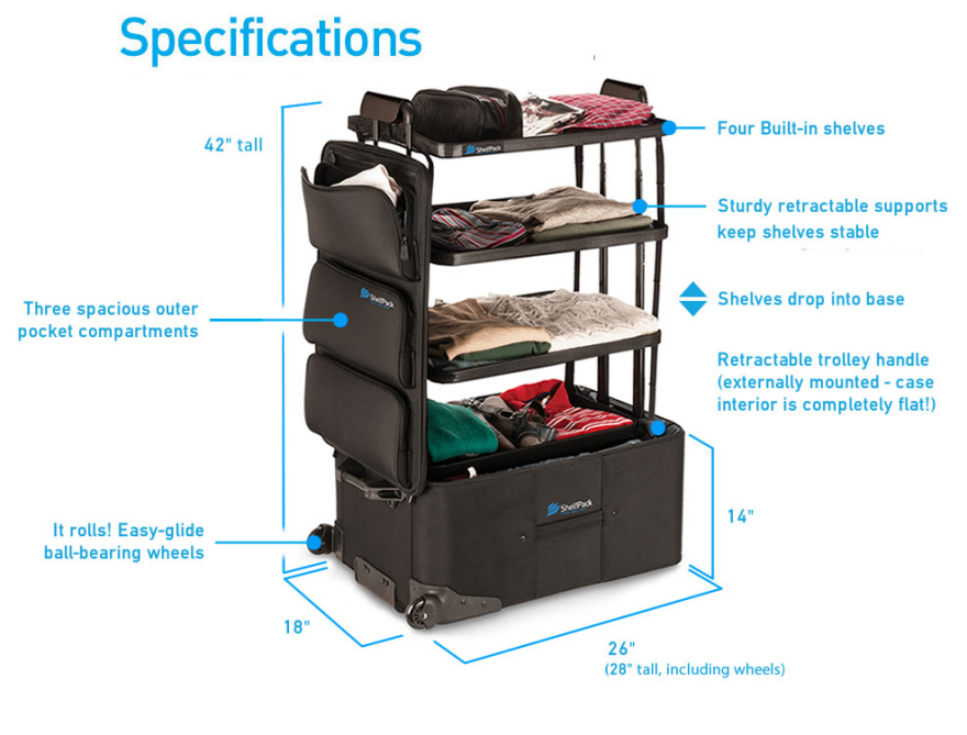 A Suitcase With Built In Expandable Shelves Core77