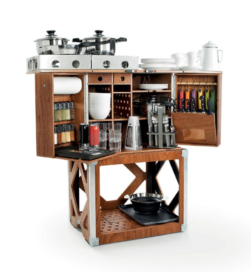 Space Saving Kitchen Nifty Space Saving Kitchen In A Box Core77
