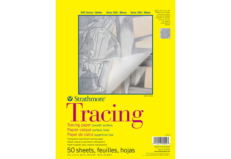 trace paper Shop drafting at staples pick 100 percent vellum tracing paper with a smooth white surface for detailed sketches, such as engineering or architectural design.