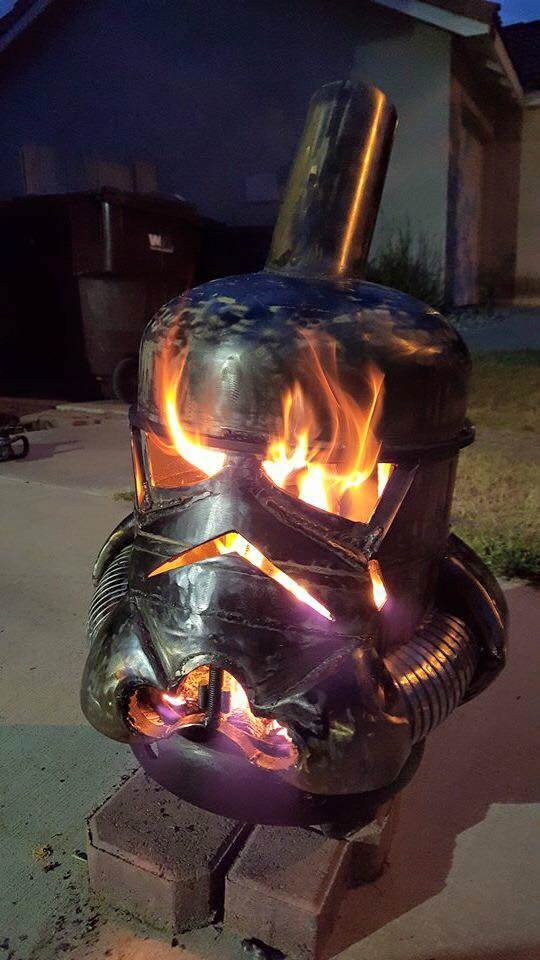 when stormtroopers keep you warm design teacher repurposes spent gas canisters as sci fi stoves. Black Bedroom Furniture Sets. Home Design Ideas