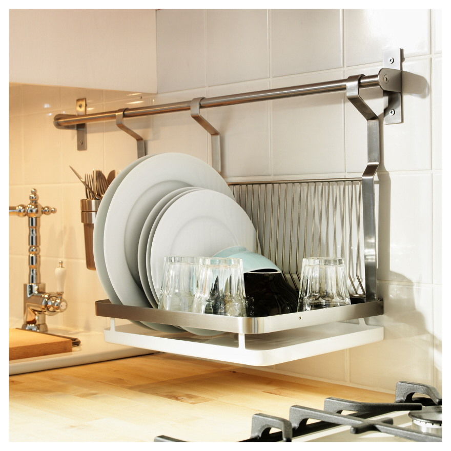 Designs for small kitchens dish racks core77 for Harga kitchen set stainless