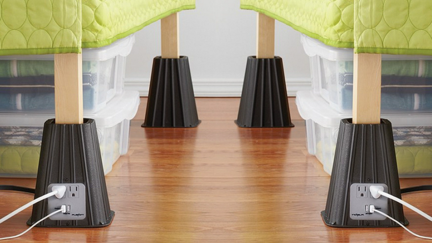 bed risers 8 dorm room must haves-faviana