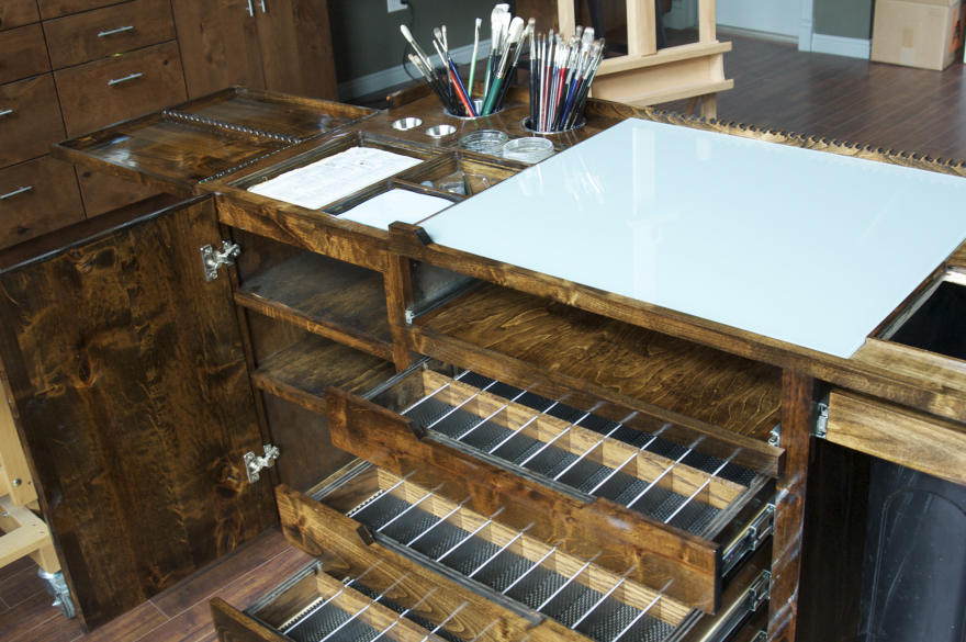 Task Furniture A Well Designed Painter S Workstation Core77