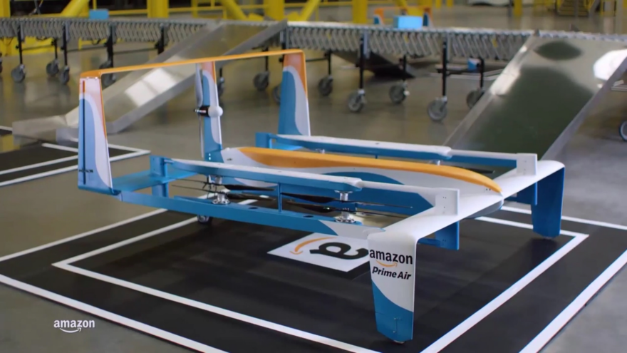 Amazon Releases New Footage of What Appears to Be a Massive Delivery Drone