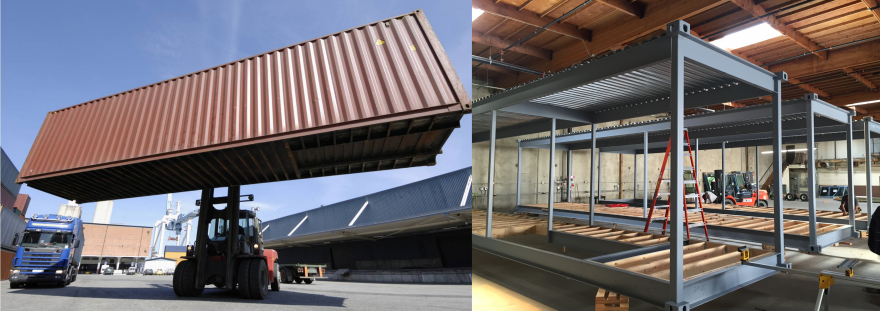 How to fix prefab architecture make it more like product for Structure container maritime