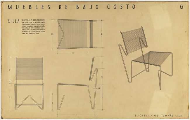 Entry panel by Porset and Guerrero for MoMA s low cost furniture design  competition  circa 1950  Image courtesy the Museum of Modern Art. Clara Porset s Tropical Modernism   Core77
