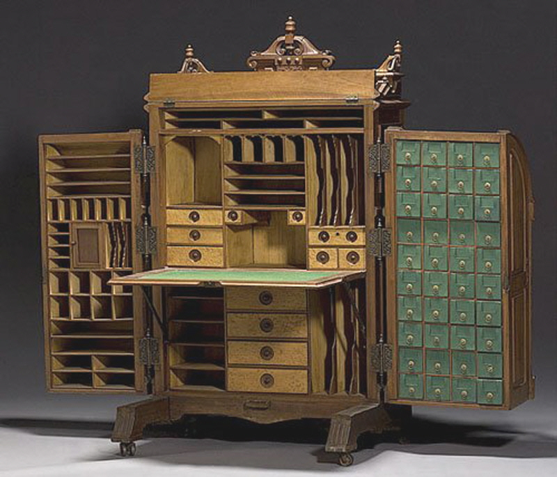 Unusual Desks unusual vintage furniture designs: the super-organizing wooton