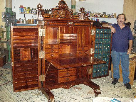 Vintage Secretary Desk >> Unusual Vintage Furniture Designs: The Super-Organizing Wooton Desk - Core77