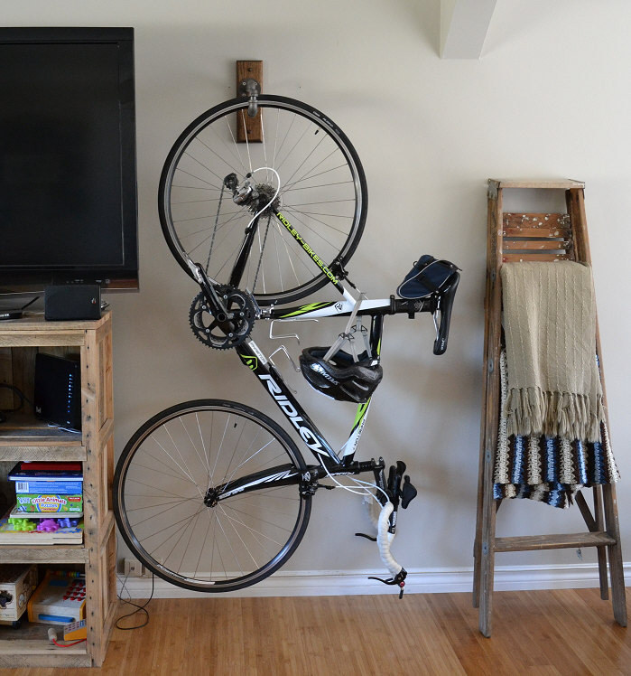 9 ways to store a bike indoors unhinged group - Bike storage small space design ...