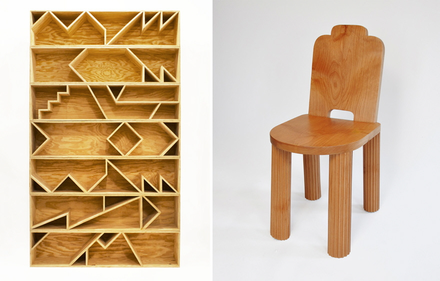 Wonderful Left: ROLUu0027s Seven Stacked Benches (After Shelves). Right: AQQ Designu0027s  Temple Chair