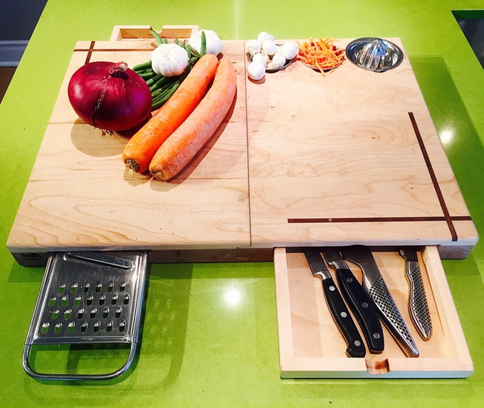 "Canadian Chef Designs The ""Ultimate Cutting Board"""