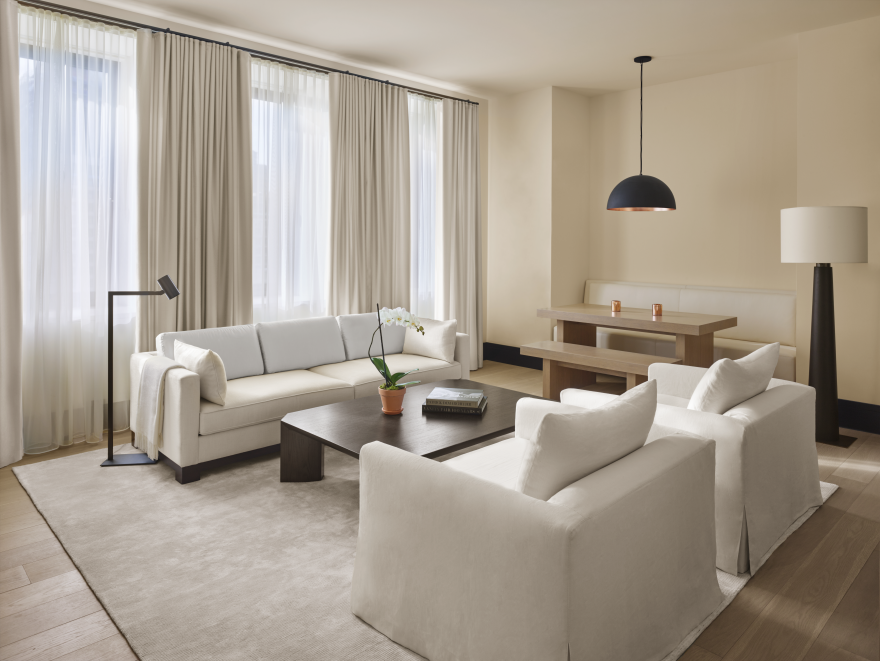 Edition new york by ian schrager and the ian schrager for Sofa interiors studio city