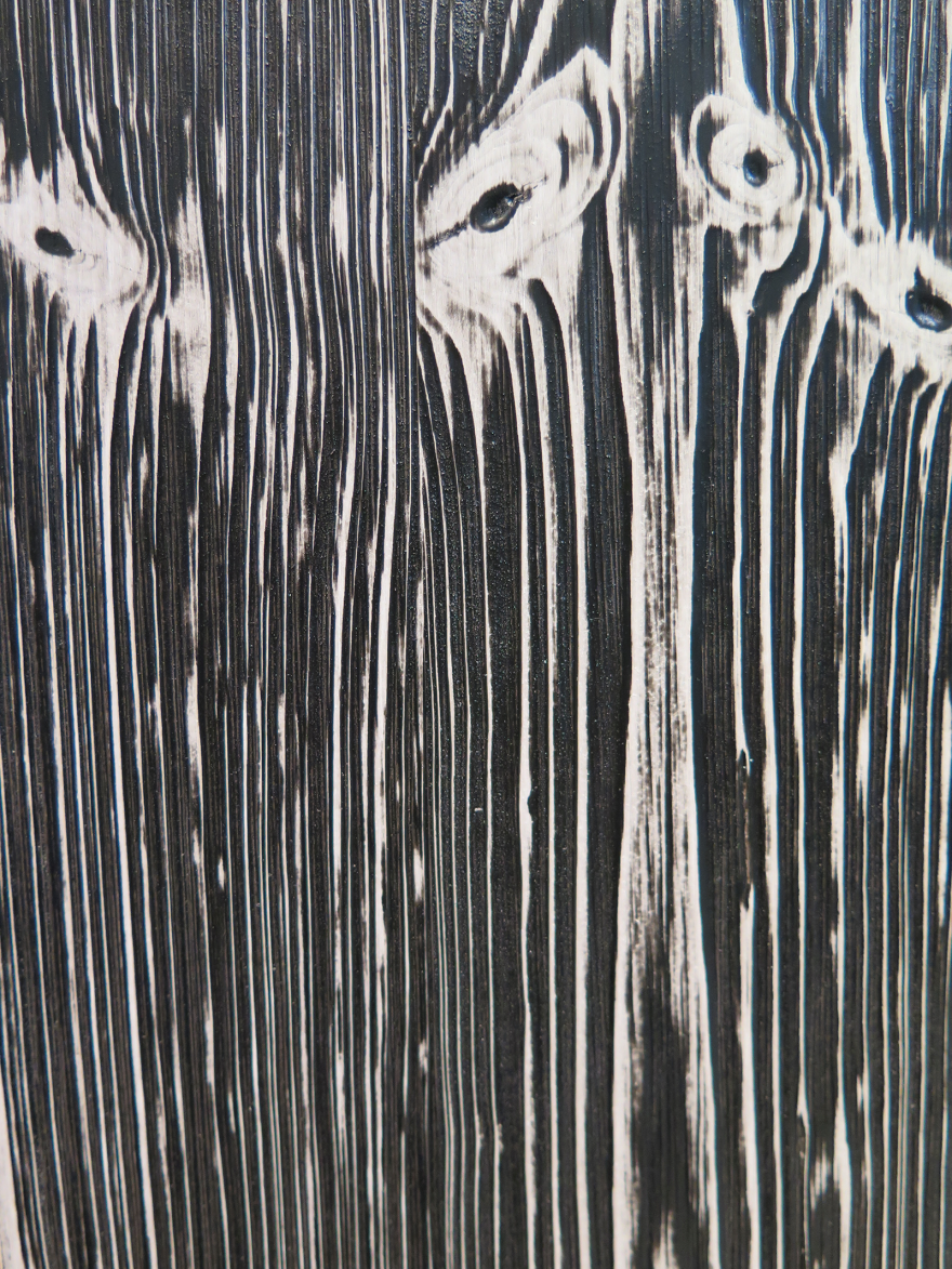 black painted wood texture. An Easy-to-Apply Two-Tone Painting Technique That Still Shows Wood Grain - Core77 Black Painted Texture E
