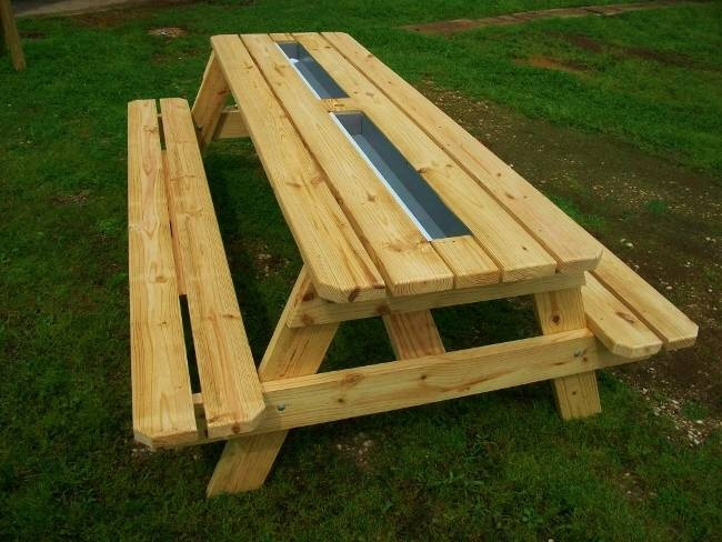 Beer trough picnic table yea or nay core77 Picnic table with cooler plans