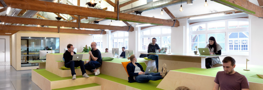 How to combat your workplace 39 s distracting open office plan core77 howldb - Small office space london property ...