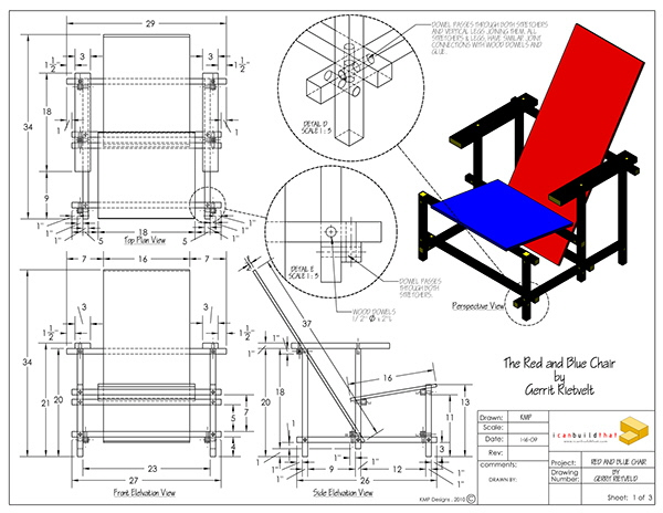 hacking gerrit rietveld 39 s red blue chair core77. Black Bedroom Furniture Sets. Home Design Ideas