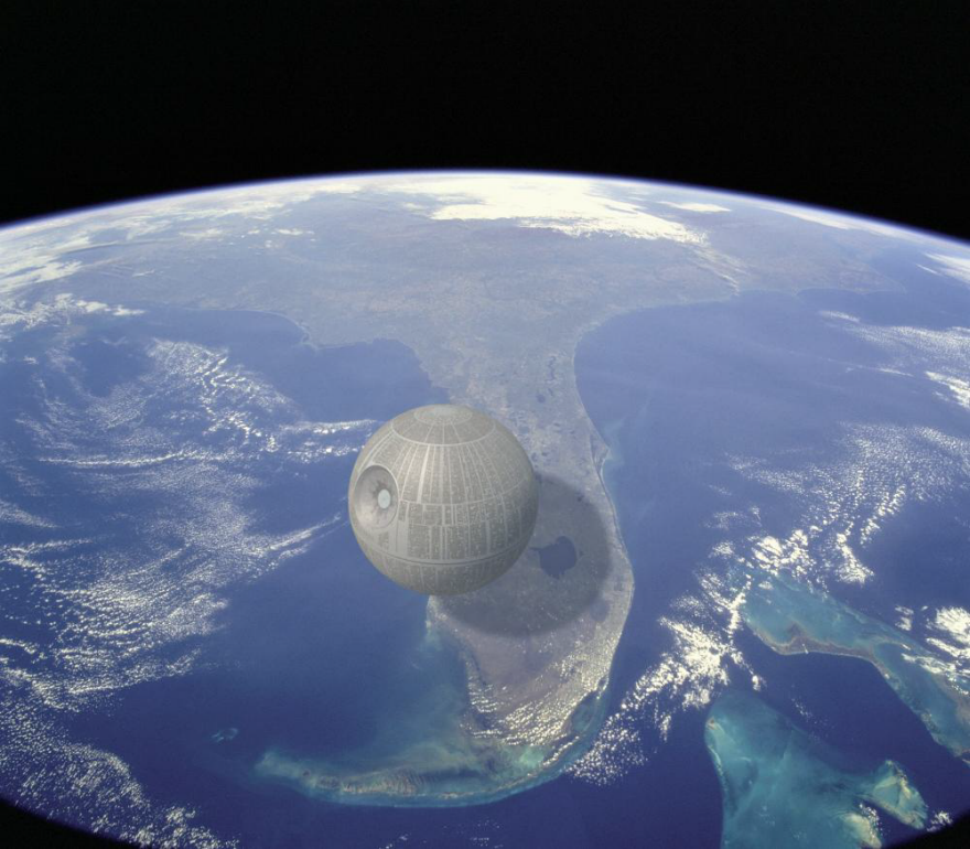The Death Star vs. Florida and Other Photorealistic Scale ...
