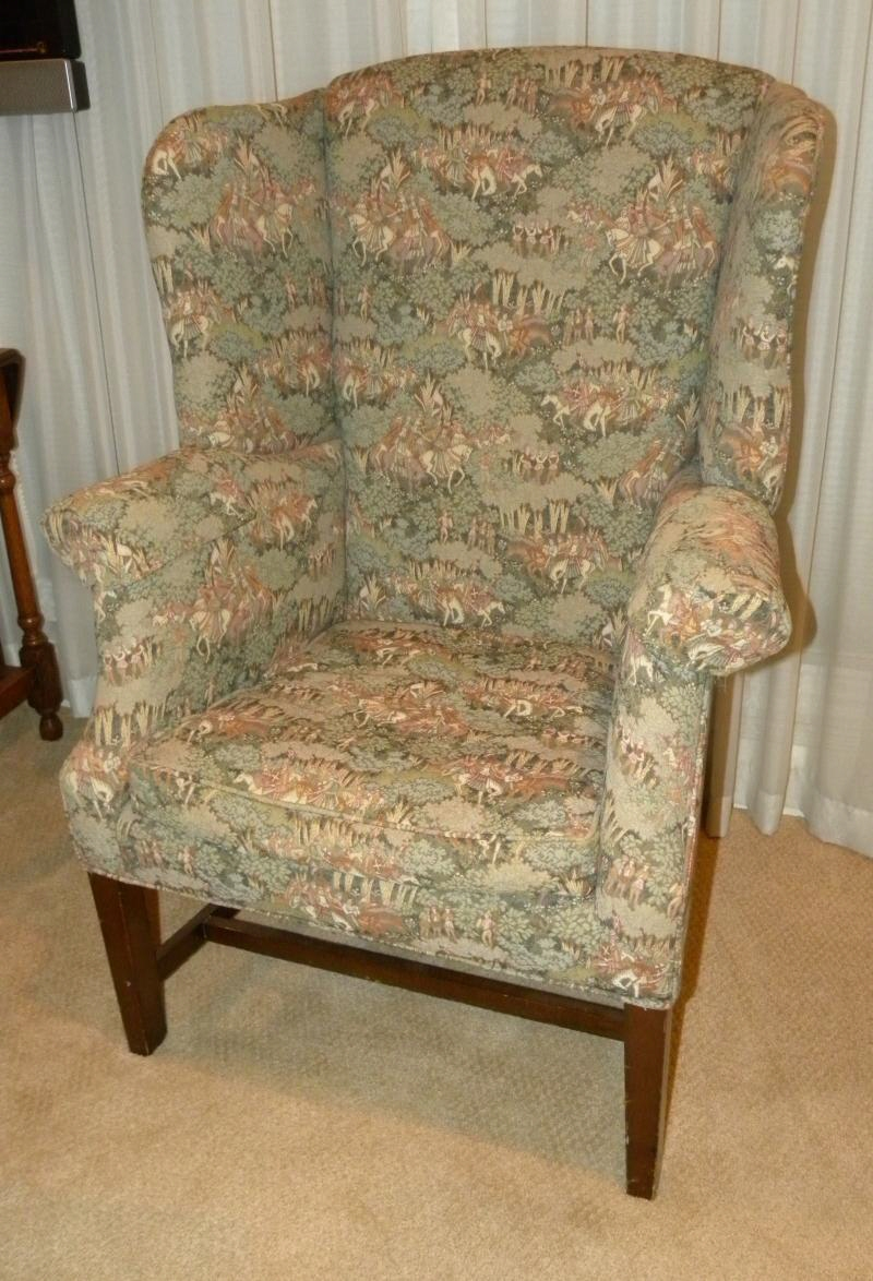 Antique wing chair - Enter A Caption Optional
