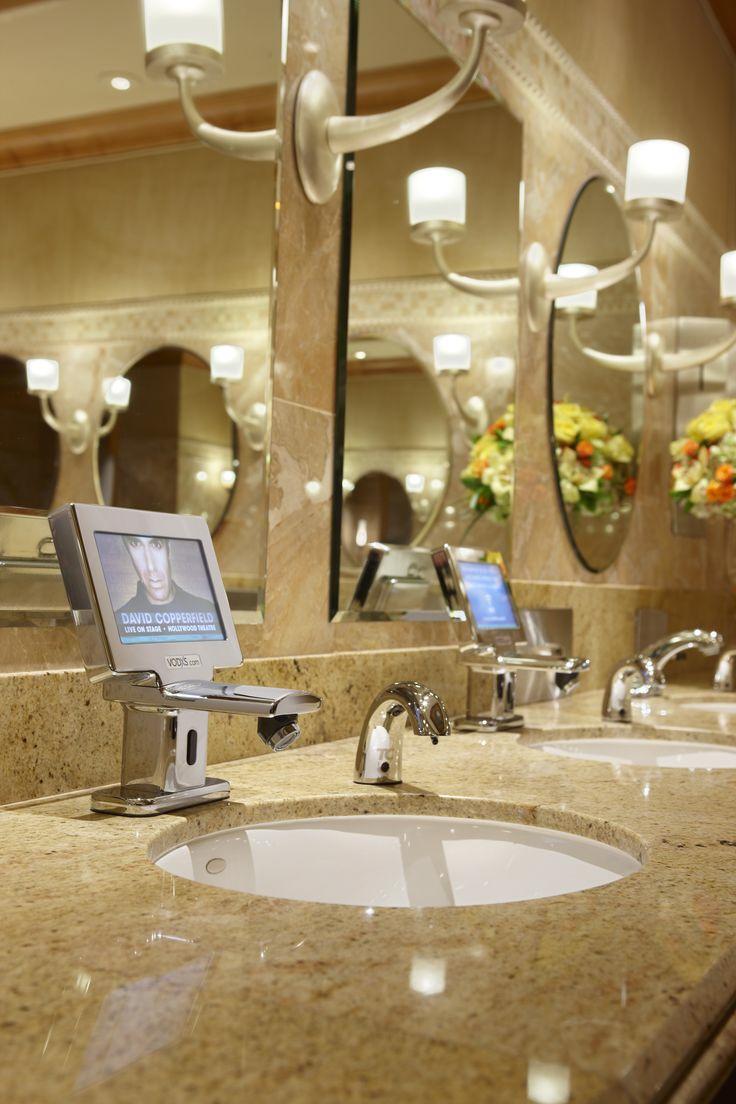 Hell in a Handbasket: Video Ads Running on Bathroom Faucet Screens ...