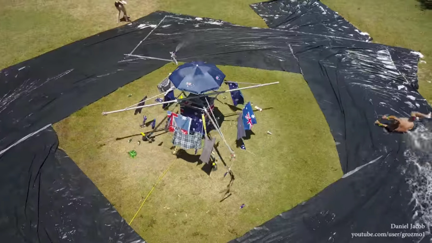 Australians Create a Never-Ending Slip  N Slide