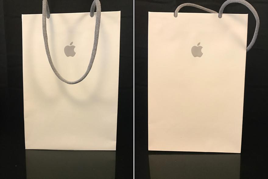 Rain's Weekly Design Minutiae: Apple's Unusual Shopping Bag - Core77