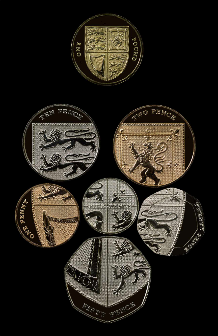 Home Design Story Coins Who Knew British Form A Coat Of Arms When Arranged Together