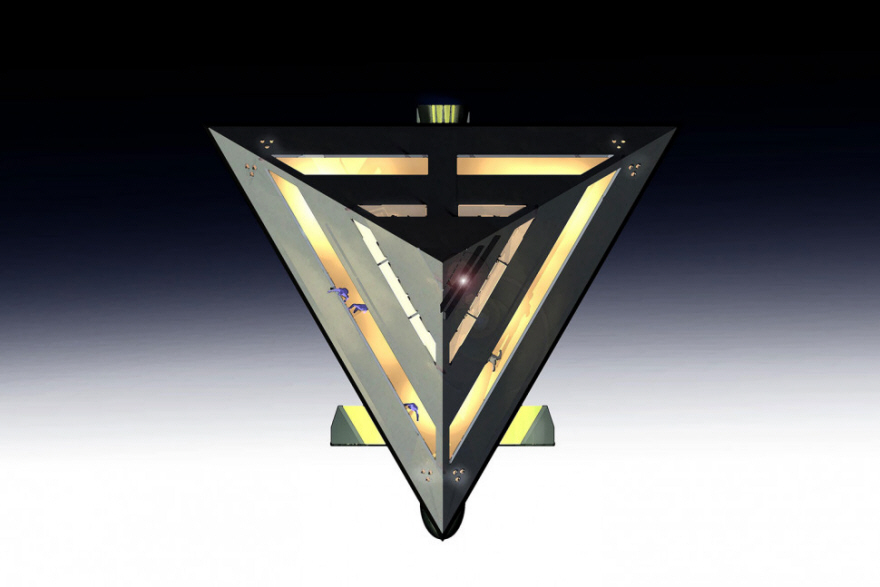 A Tetrahedral Levitating Yacht Design