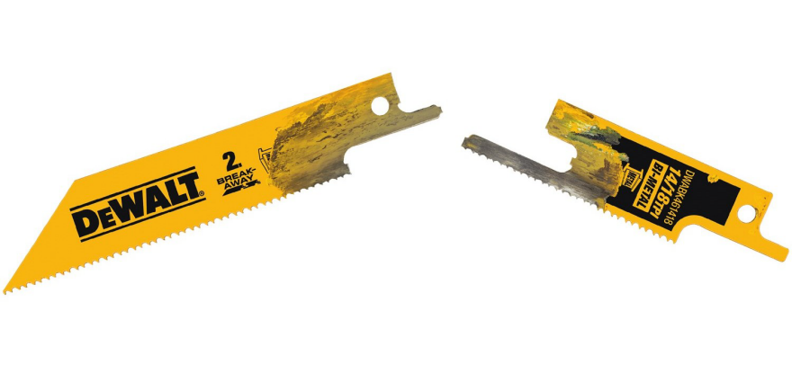 A reciprocating saw blade thats designed to break core77 a 6 inch blade snapped in two greentooth Images