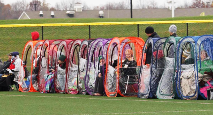 Enter a caption (optional) & Yea or Nay? Rainy Weather Sports Viewing Personal Tents for ...