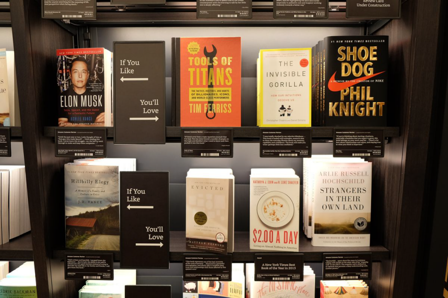 amazons nyc bookstore transposes digital conventions onto