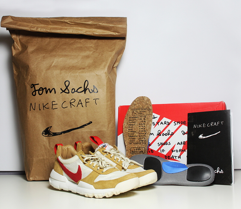 180aa44e05d6 Tom Sachs and Nike s top designers modelled the sneaker using the same  materials used to create airbags for Mars rovers and brought one ...