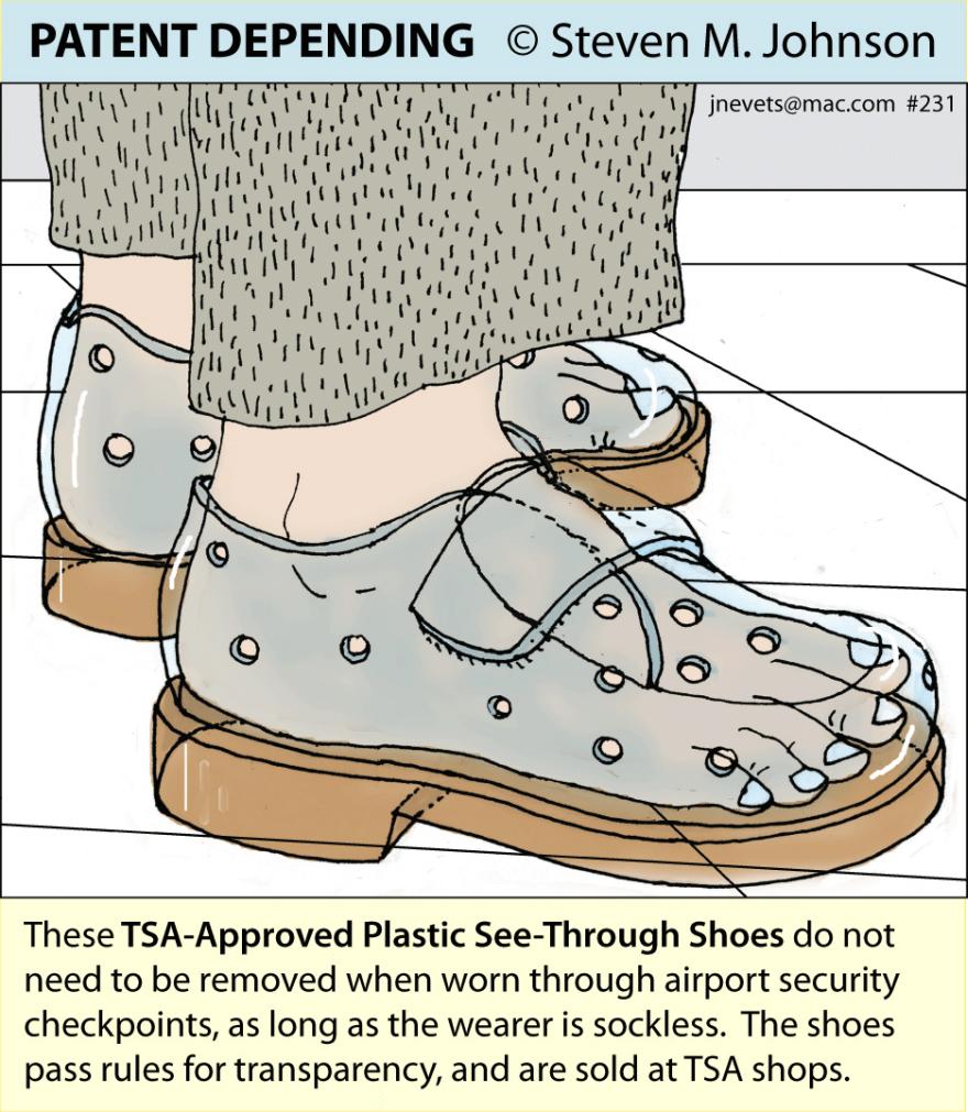 Steven M. Johnson s Bizarre Invention #231: TSA-Approved Shoes